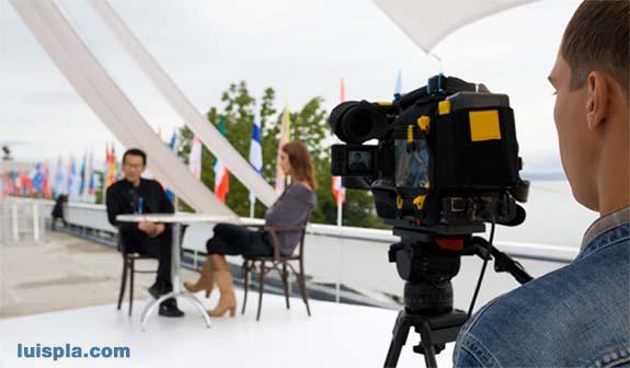 Realización de entrevistas televisivas