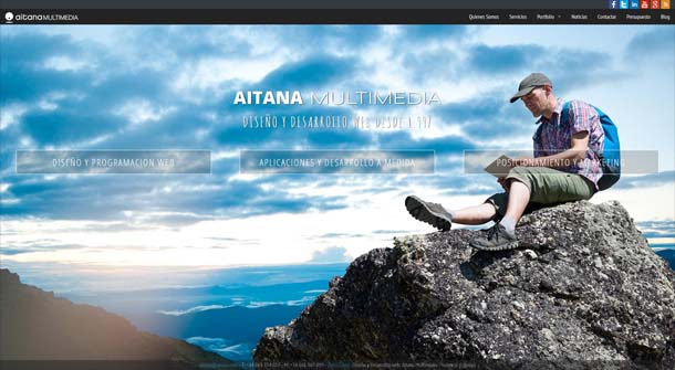 La página Web de Aitana Multimedia